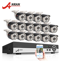 ANRAN 16CH CCTV Camera System 1080N Output HDMI DVR 720P 1800TVL IR Outdoor Home Security Camera