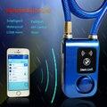 Fahrrad Schloss Bluetooth Intelligente Telefon APP Steuerung Smart Alarm Anti Diebstahl Kette Wasserdichte 110dB Alarm Fahrrad Verriegeln|bicycle u lock|bicycle v brake adjustmentbicycle laser -