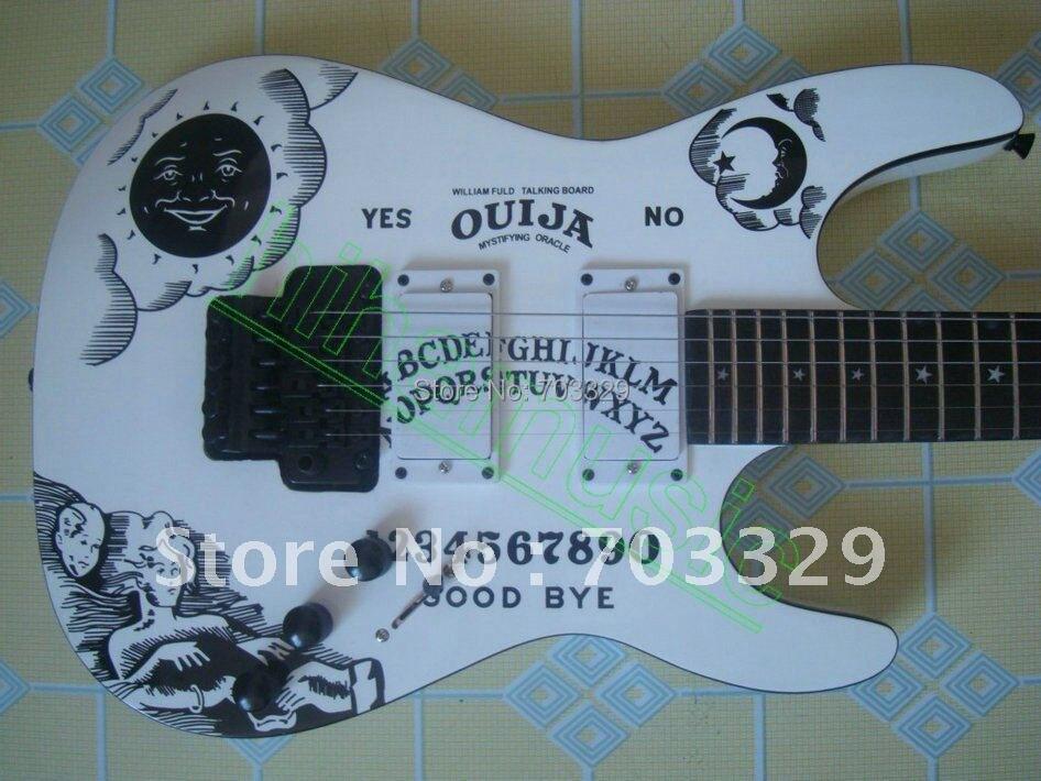 M-300 Kirk Hammett white E S P Ouija guitar EMG pickup neck through body CUSTOM made in japan KH202 Hasbro Floyd Rose Tremolo