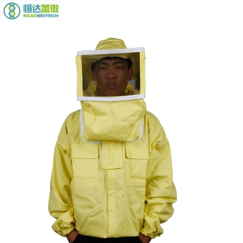 Protective Beekeeping Jacket Beekeeping Apiculture Bee Cotton and Graze Square Cap Coat Beekeeper Costume HDBC-006