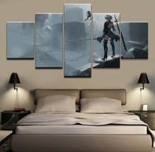 5 Pieces Game NieR Automata YoRHa Modern Decorative Wall Painting Canvas Art HD Print Modular Picture Home Decor Living Room home decor living room 5 piece 2b back black shadow painting canvas hd print game nier automata poster wall art modular picture