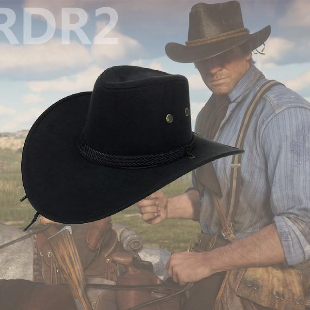 aaead43953a Red Dead Redemption 2 Caps Hats RDR2 Children Cosplay Cartoon Hat Arthur  Morgan Cowboy Hat