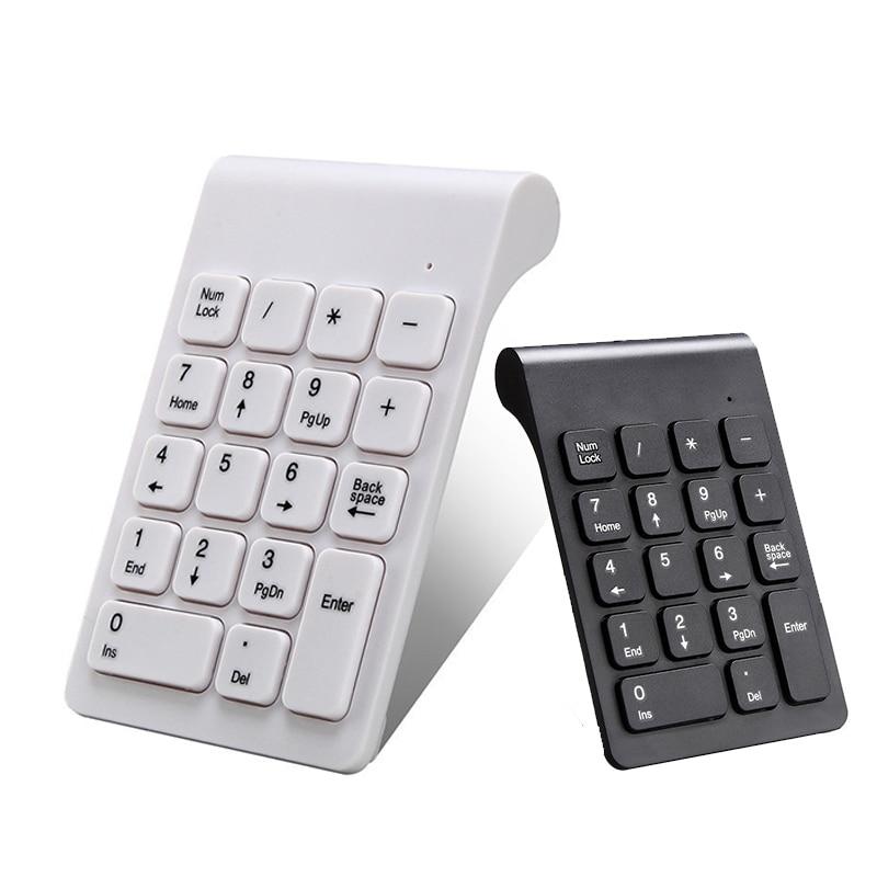 2.4G Wireless Number Pad USB Digital Keyboard With 19 Keys Mini Number Keypad Keyboard For Laptop Notebook PC Computer Keyboard