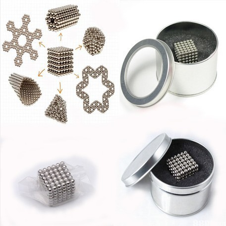 Free shipping 5mm 216 pcs Neo Cube Magic Cube Puzzle Magnetic Balls with metal box
