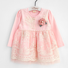 Baby Girls Clothing for Babies Autumn Christmas Toddler Infant Lace Embroidery Pearls Princess Dress Outfits with Flower 0 2T