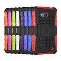 Высокое Качество Нового Для Microsoft Nokia Lumia 532 Case Мягкие Силиконовые Жесткий Пластик Броня Case Держатель Stander W0A21 P45
