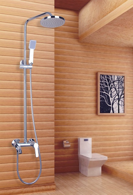 Best Promotion Polished Chrome Waterfall Rain Shower Faucet & Hand ...