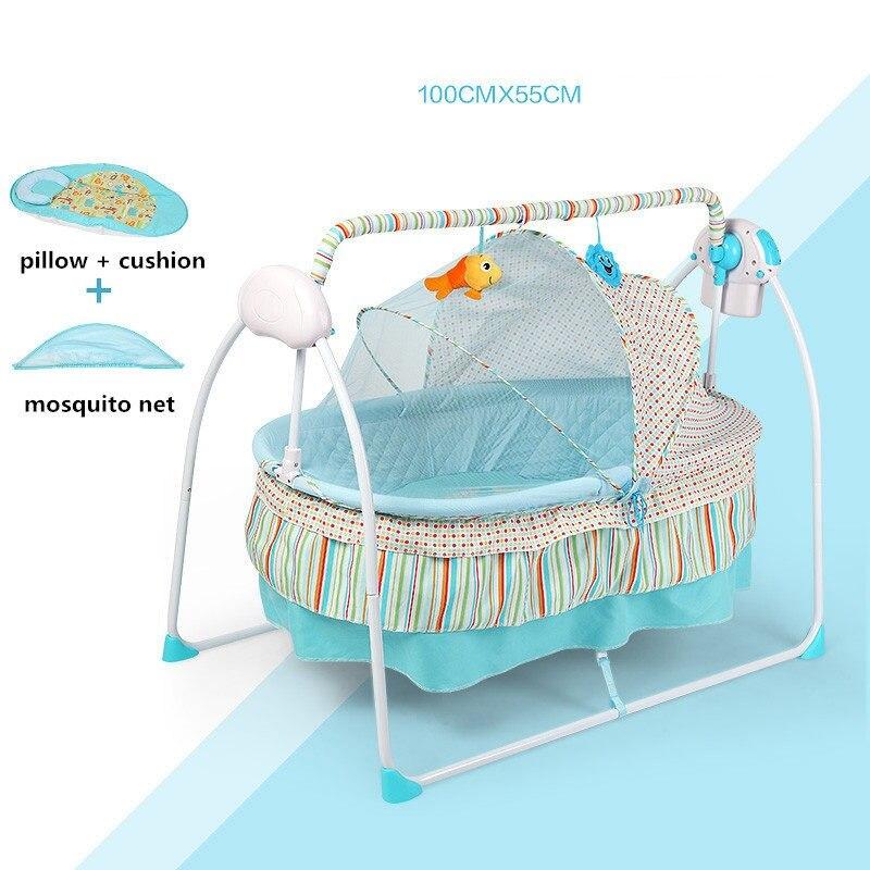 Berceau électrique de bébé de mode/berceau de bébé, bascule électrique de bébé, lit d'oscillation de bébé, grand Sp100 * 55 cm
