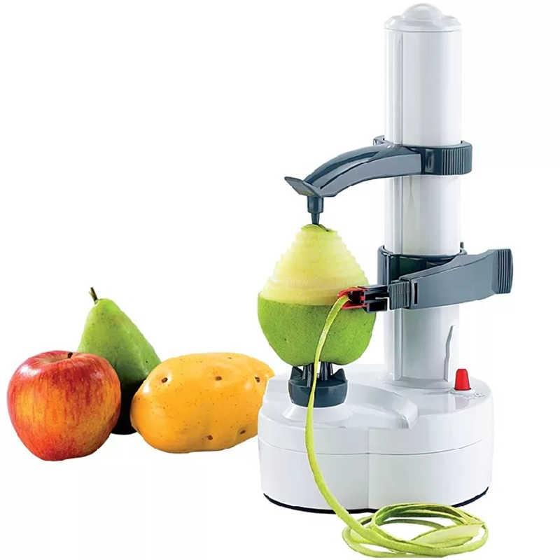 Elektryczny biały obierak do ziemniaków ze stali nierdzewnej obieraczka do owoców obieraczka do warzyw nóż do ziemniaków narzędzia do akcesoriów kuchennych gadżety