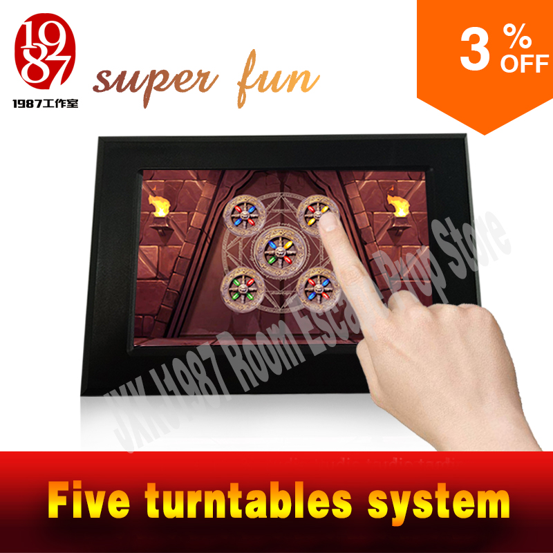 купить Real life room escape prop Smart screen Five turntables system from JXKJ1987 adventurer game prop New arrivals adventure game