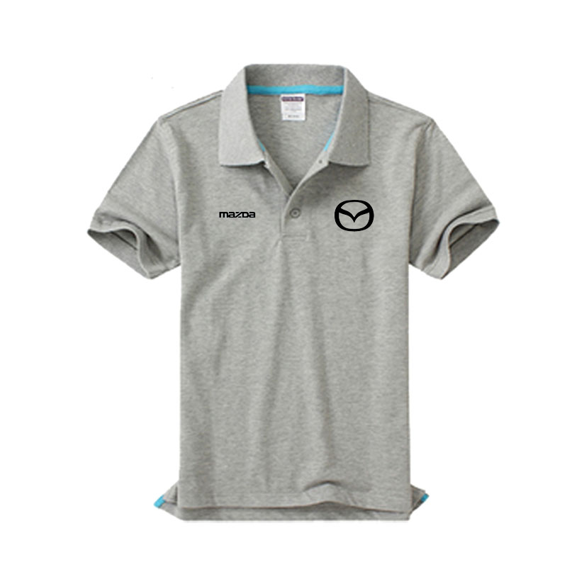 Brand clothing MAZDA logo   Polo   Shirt Casual solid male   polo   shirt Short Sleeve High quality
