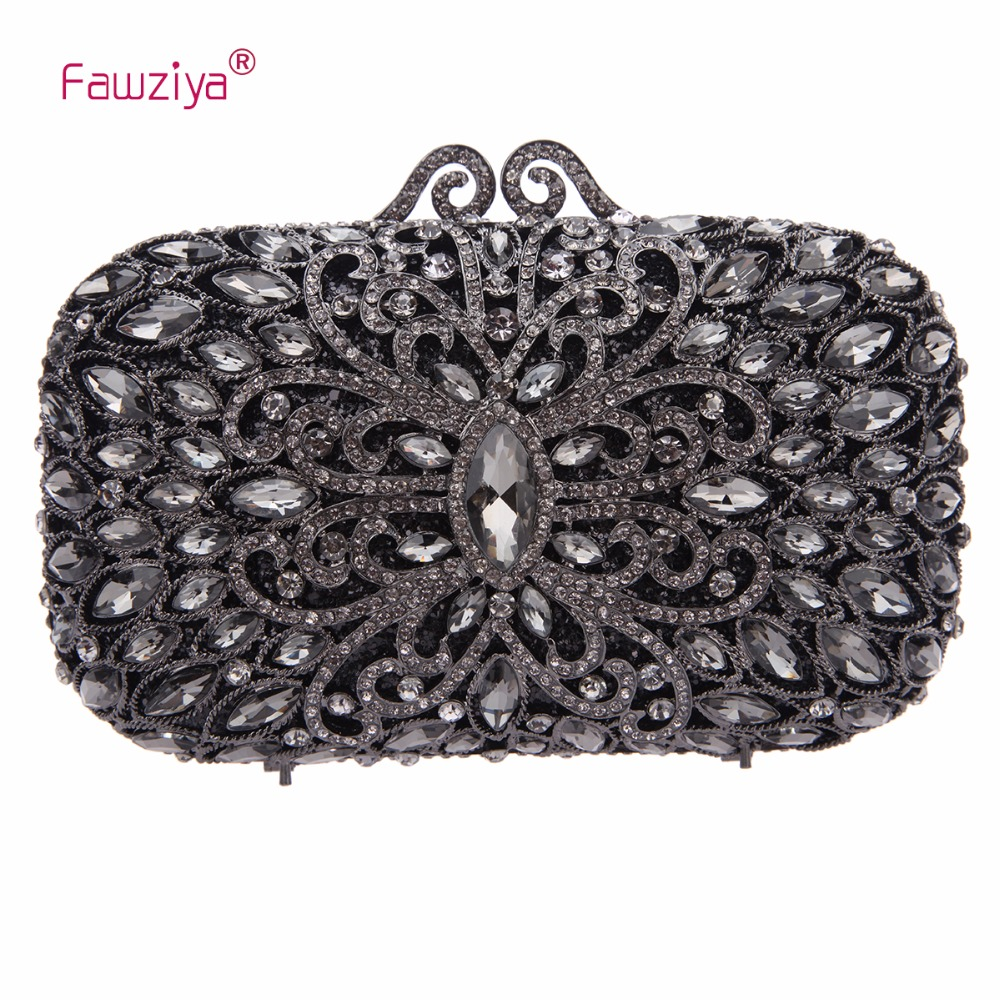 Fawziya Evening Bag Crystal Clutches For Womens Purses And Handbags fawziya big diamond heart clutch purses for women evening bag crystal