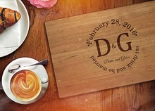Personalized Wedding favors and gifts Custom Engraved Wooden Cheese Kitchen Board Wood chopping Blocks bamboo cutting