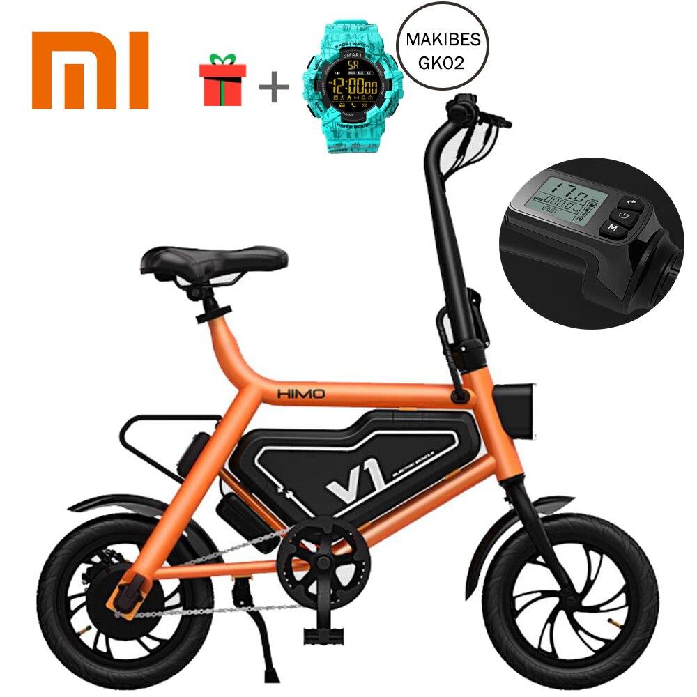Новый 100% Оригинальный Xiaomi HIMO велосипед портативный складной Электрический помощь умный велосипед складной Эргономичный дизайн мульти-реж...