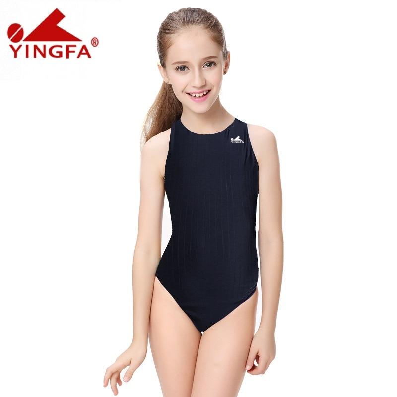 Yingfa Competitive swimming kids swimwear competition swimsuits training swimsuit swim suit women girls racing plus size  Юбка