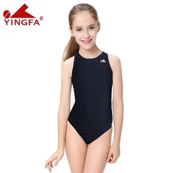 5b77f3946 Yingfa natación niños baño competencia trajes traje de entrenamiento traje  de baño las mujeres las niñas