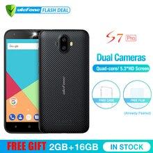 Ulefone S7 Pro 2 ГБ +16 ГБ  двойная камера мобильный телефон 5.0 дюймов HD MTK6580 4 ядра Android 7.0  13MP камера 3G WCDMA Смартфон