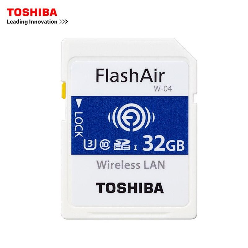 TOSHIBA FlashAir W-04 carte mémoire sans fil LAN 32 GB Wifi carte SD U3 UHS classe de vitesse 3 sans fil carte mémoire SD Wifi carte SD