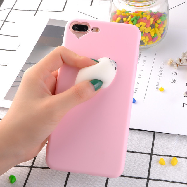 3D Kawaii Squishy Cases Phone Cases For iPhone