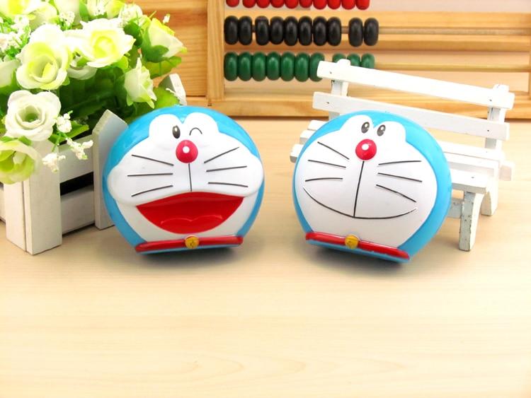 LIUSVENTINA cute portable Doraemon cat contact lens case for lenses container box