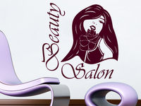 Wall Decal Beauty Salon Make up Girl Woman Makeup Eyes Face Lips Fashion
