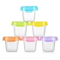 6pcs Baby Food Containers 60ml Snack Box Kids Toddler Milk Powder Formula Dispenser Free Blocks Food