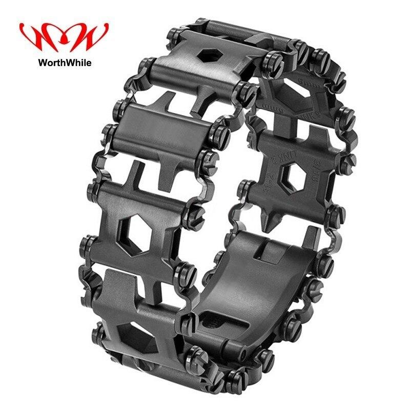 Bracelet de survie multifonction utile bande de roulement portable pour la randonnée en plein air Kits de premiers secours tactiques militaires SOS équipement d'urgence