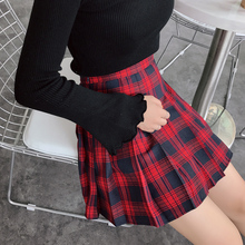 Role Cosplay Vintage Sexy Women Skirt Mini Plaid Tutu Pleated Schoolgirl Saias Femininas Midi Autumn Winter
