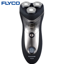 Flyco профессиональный электробритвы Для мужчин аккумуляторная Интеллектуальные 3D головы бритва Бороды Триммер Для Бритья машина FS356
