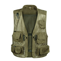 Tactical Vest M XXXL Men Breathable Hunting Jacket Camo Fishing Vest Photography Gilet Tactique Men Fishing