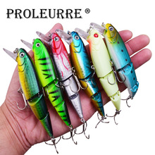 Proleurre Jointed Fishing Lure 10.5cm 15.5g Minnow Hard Bait Artificial Fishing Wobblers Plastic Fish pesca Fishing Tackle