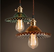 Edison Style Loft Industrial Lamp VIntage Pendant Lights Fixtures In Glass Lampshade Hanglamp Lampe American Coutry