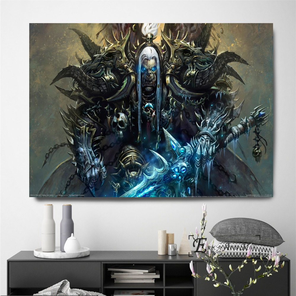 WOW World Of War Craft Game On Sale Poster Wall Painting Living Room Abstract Canvas Art Pictures For Home Decor No Frame