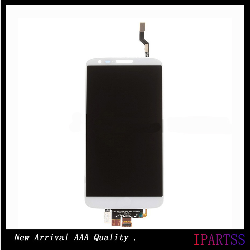 ФОТО High Quality For LG G2 D802 Display Screen With Touch Assembly For G2 D802 Display Screen Black/White Colors