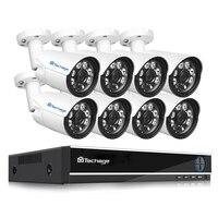 Techage XMeye 8CH 4.0MP аналоговый видеорегистратор высокой четкости камера комплект 4MP HDMI Ночное видение P2P камера видеонаблюдения наборы систем 2 ТБ