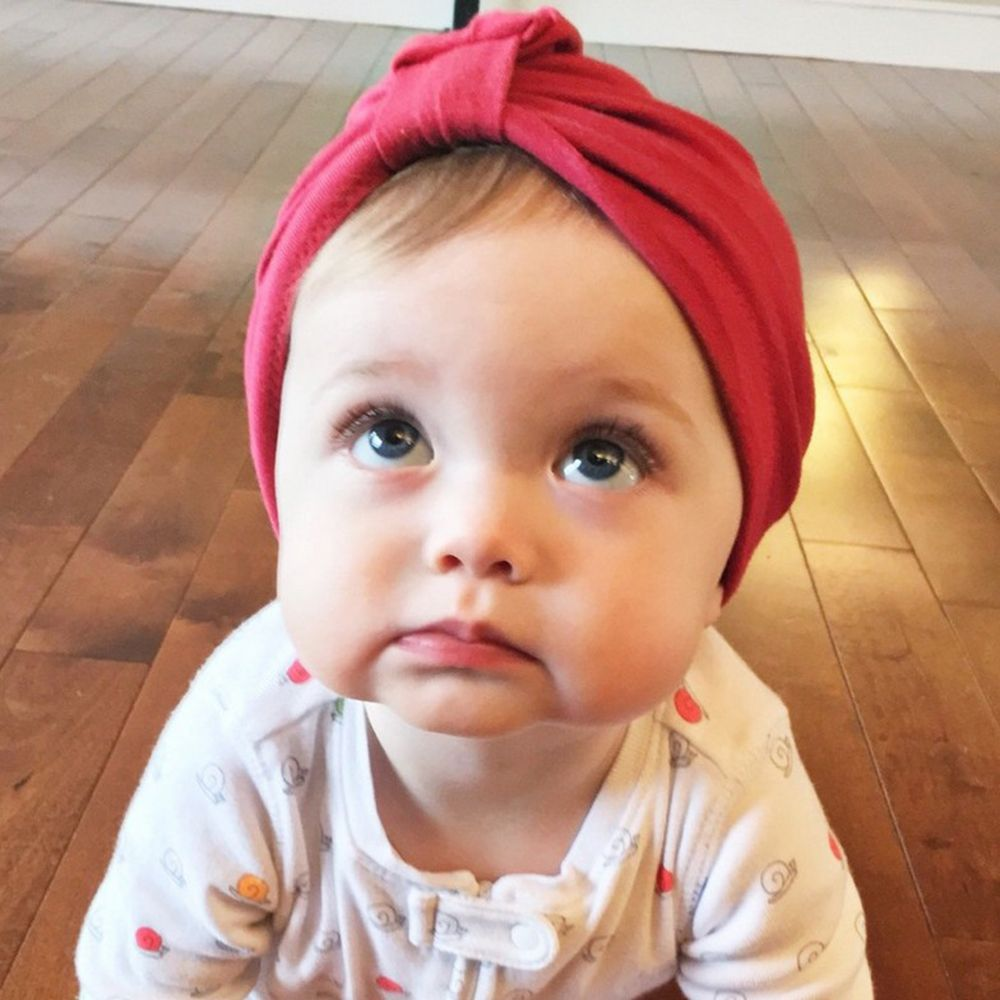 Chosen Baby Girls Boys Infant Toddler Cotton Soft Turban Knot Cap Beanie Hat Bomber Hats