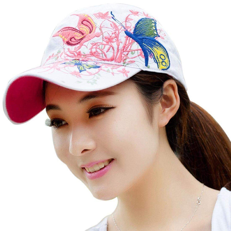 Composite Bats Female hat sports girls golf baseball cap white