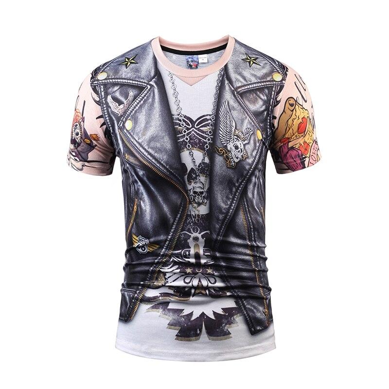 2018 Mr.1991INC & Miss. go новые летние Для мужчин/Для женщин 3D печати мотоцикл Костюмы кожа Рубашка с короткими рукавами футболка тренд одежды назад О... ...