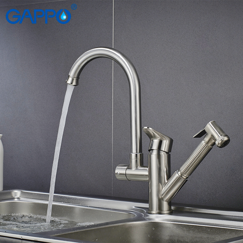 Gappo Kitchen Faucets Kitchen Water Sink Mixer Tap Rotatable Sink Water Mixer Waterfall Faucet Kitchen Pull Out Faucet