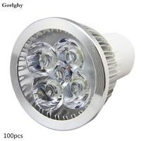 100pc/lot GU10 LED Light Bulbs Spotlight 5W MR16 12V 4W Daylight Recessed Lighting Fixture GU10 110V/220V Warm Cool White E27 3W
