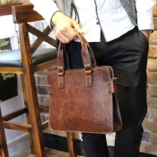 Tidog Crazy horse leather bags for men's handbags men single shoulder bag business briefcase inclined shoulder bag