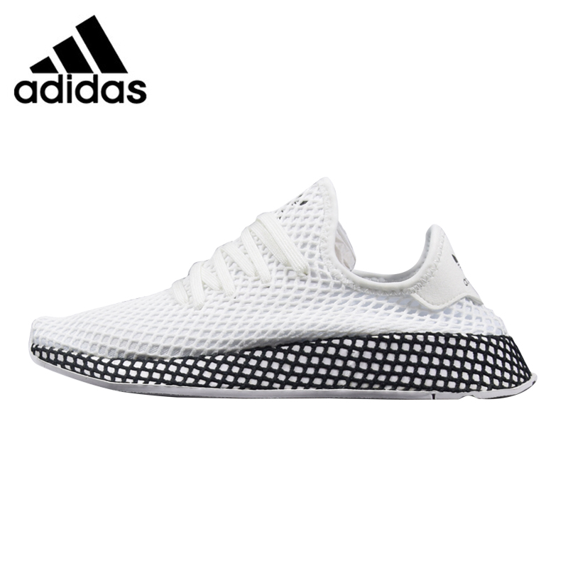 Adidas Deerupt Runner Men's Running Shoes, White & Black / Grey & White, Breathable Non-slip Lightweight B41767 CQ2626 adidas сумка взр run belt rayred black grey