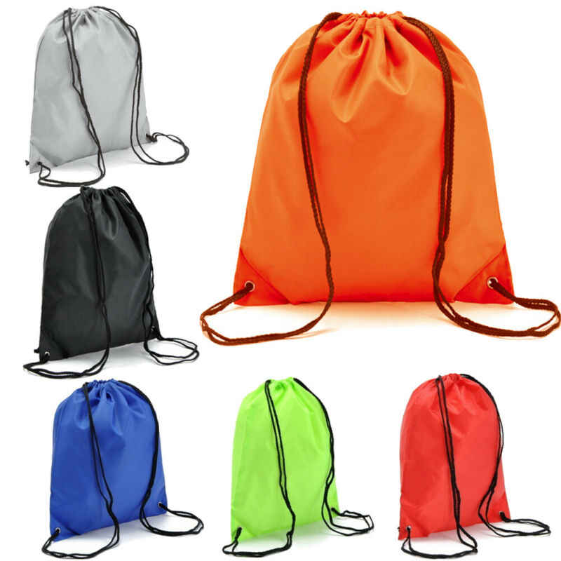 Nylon Drawstring Backpack String Gym Sack Bag Sports Cinch Sack for Men Women Kid School Travel