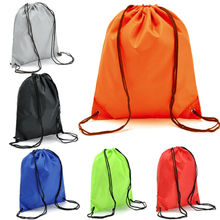 Nylon Drawstring Backpack String Gym Sack Bag Sports Cinch Sack for Men Women Kid School Travel cinch sack page 7