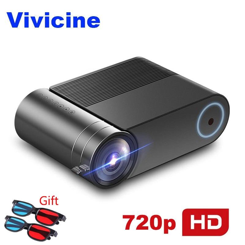 VIVICINE 720p HD projecteur LED, Option Android 9.0 Portable HDMI USB 1080p Home cinéma proyecteur Bluetooth WIFI Mini LED projecteur