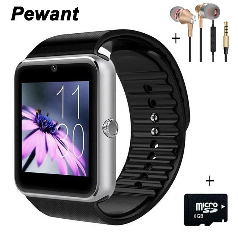 Galleria fotografica 2017 Pewant Portable Smart Devices Montre GT08 Android Porter Horloge <font><b>Smartwatch</b></font> avec Caméra SIM Smart Santé PK DZ09 A1 GD19 GT 08