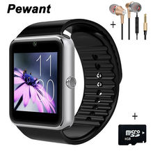 2017 pewant usable dispositivos smart watch gt08 desgaste androide reloj smartwatch con Cámara SIM PK Salud Inteligente DZ09 A1 GD19 GT 08