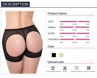 Sexy women butt lift shaper butt lifter plus size boyshort butt enhancer panty butt lifter with tummy control underwear trainer