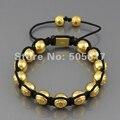 Shamballa Italy jewelry Fashion Shamballa Bracelet Handmade CZ Micro Pave Customized DIY Charm Bracelets christmas gifts N-YB022