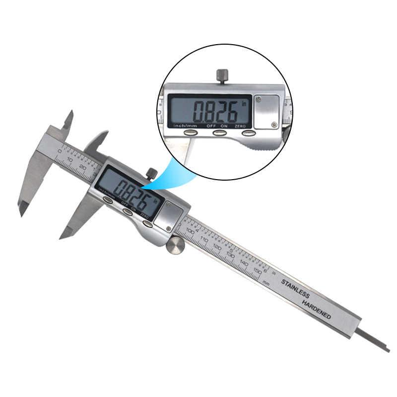 Pied à coulisse numérique 6 pouces 150mm acier inoxydable étrier électronique micromètre profondeur outils de mesure